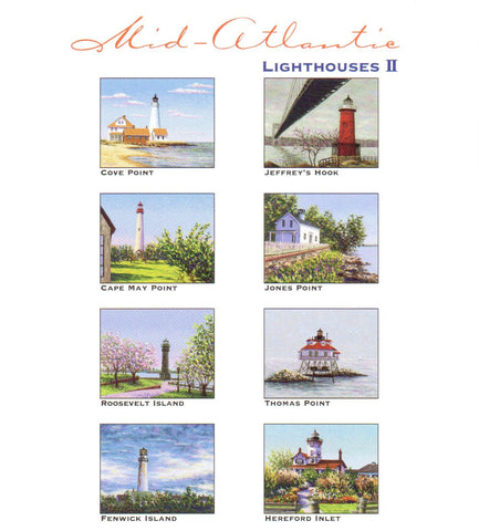 Mid-Atlantic Lighthouses II Notecards by Marsha York