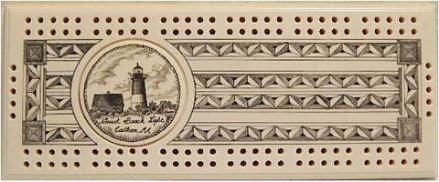 Scrimshaw Nauset Lighthouse Cribbage Board