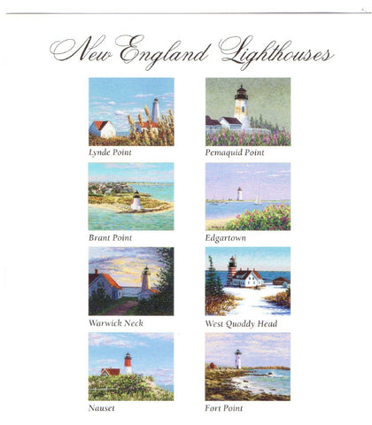 New England Lighthouses Notecards by Marsha York