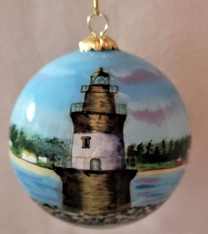 Orient Point, NY Lighthouse Ornament by Marsha York