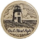 Scrimshaw Owl's Head Lighthouse Magnet