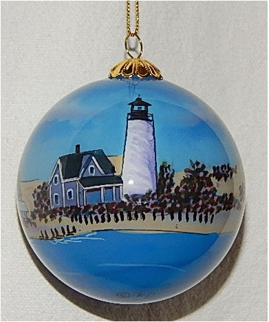 Sandy Neck, MA Lighthouse Ornament by Marsha York
