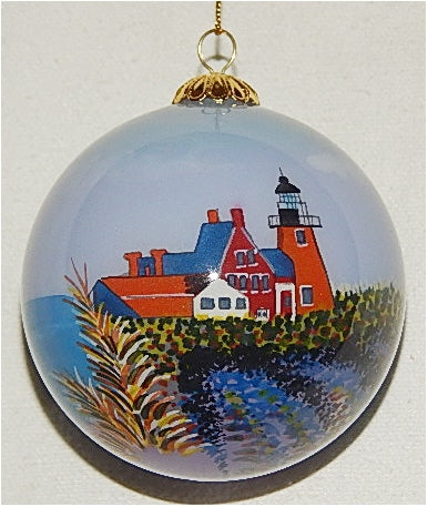 SE Block Island, RI Lighthouse Ornament by Marsha York