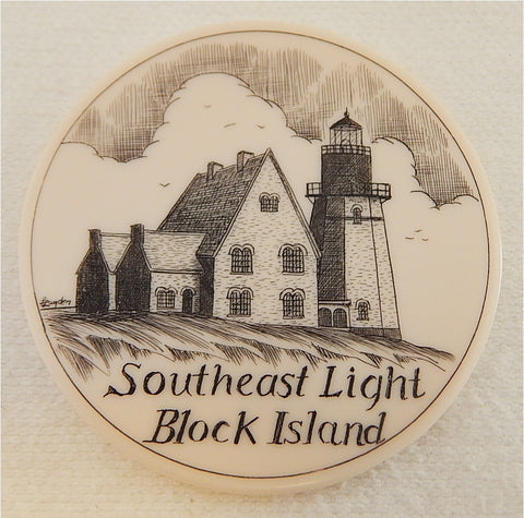 Scrimshaw SE Block Island Lighthouse Magnet