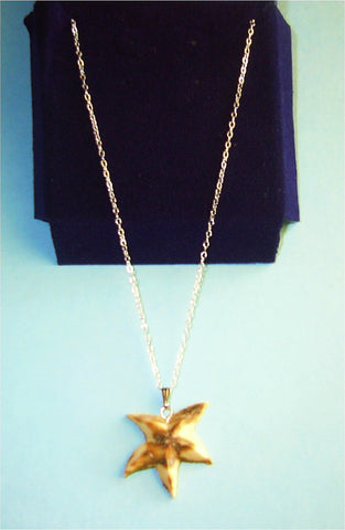 Starfish Ivory Pendant Necklace
