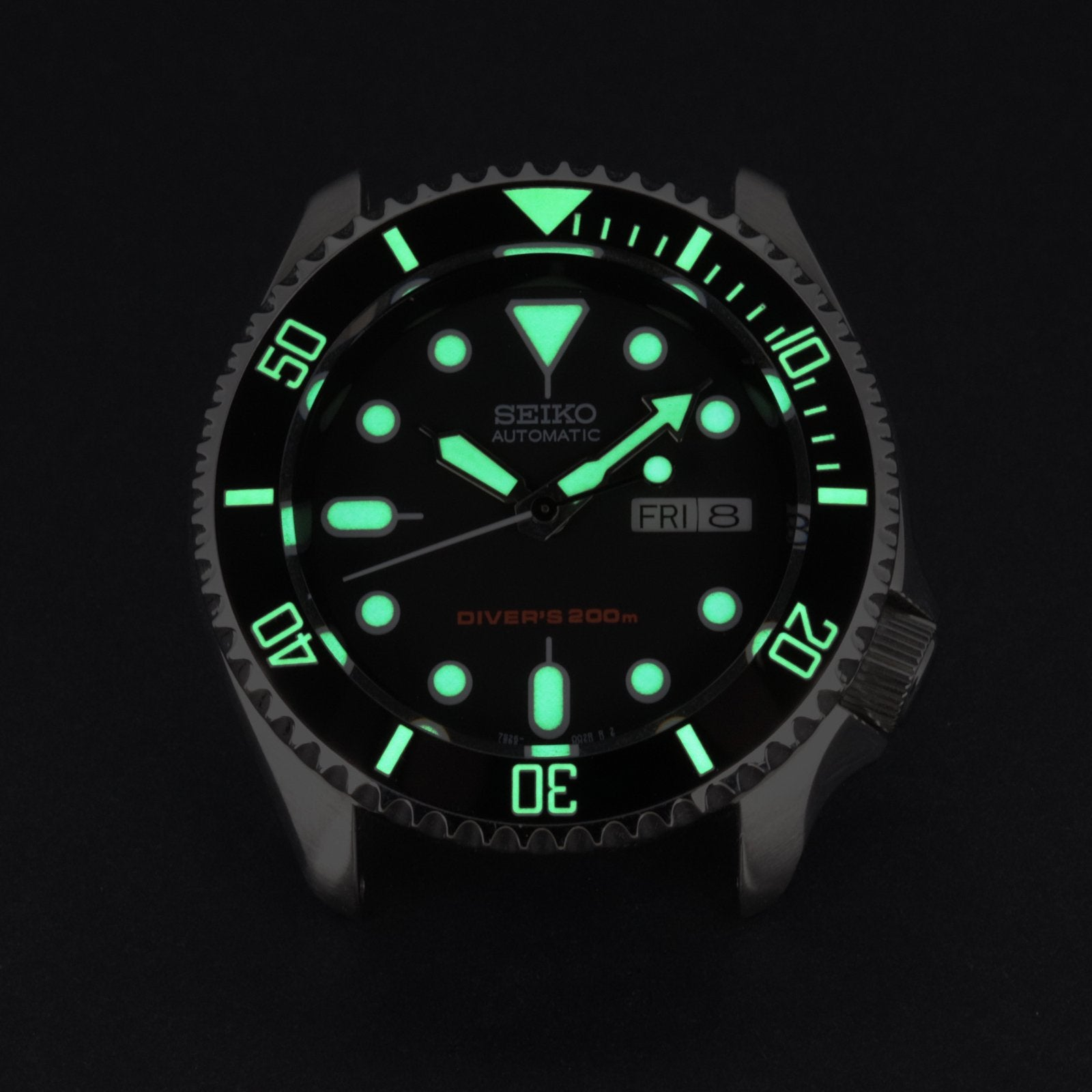Ceramic Insert - 007 Sub Black - Luminous Green