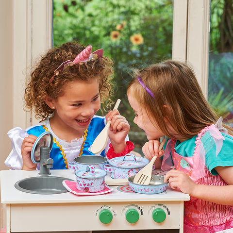Practising social skills during make believe play helps children develop important life skills.