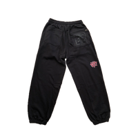 rel@xed black joggers