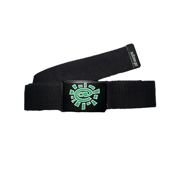 black silk screen belt