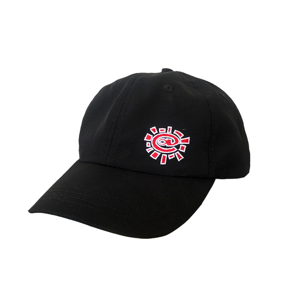black/red nylon cap