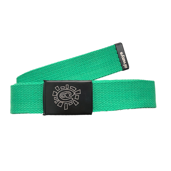 green canvas belt