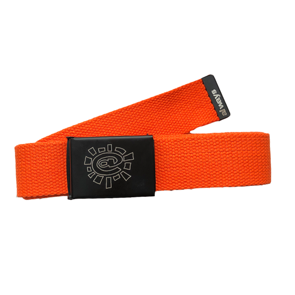 orange canvas belt