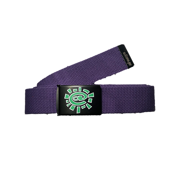purple silk screen belt
