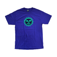 reading sun t-shirt purple