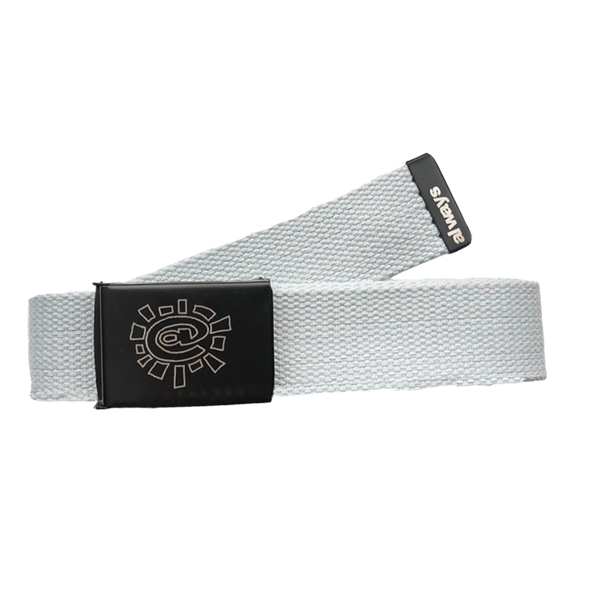 silver canvas belt