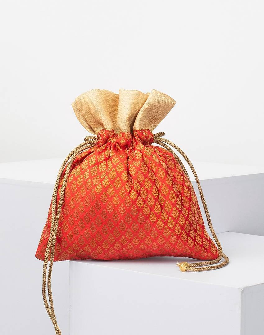Silk Brocade Potli Bag For Women
