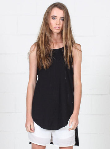SCALLOP SINGLET BLACK