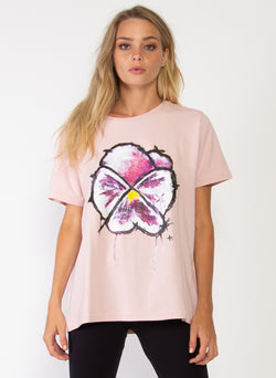 RUSH TEE - PURPLE PANSY