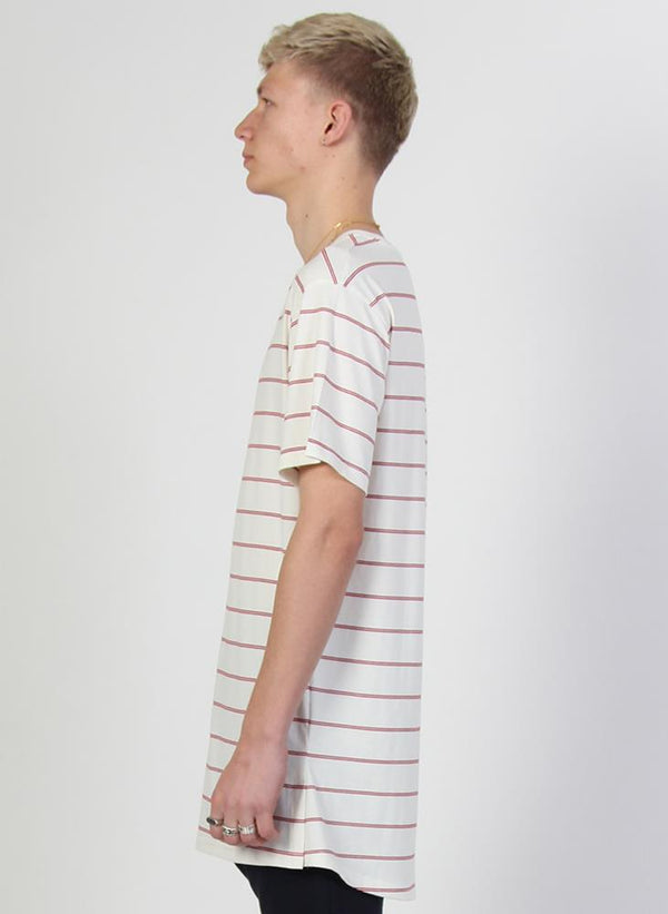 STRIPED LOOK TEE - WORDS