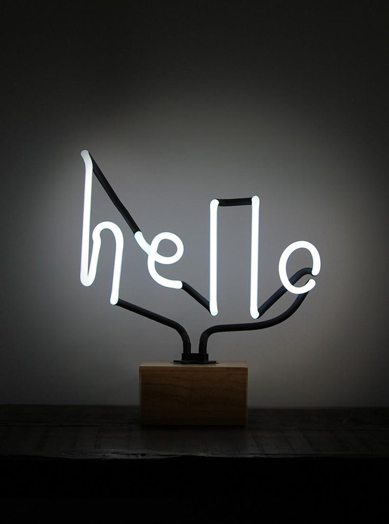 SOMEKIND NEON 'HELLO' WOOD