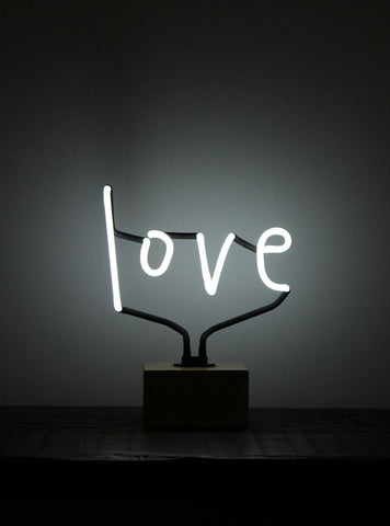 SOMEKIND NEON 'LOVE' WOOD