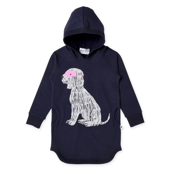 Super Dog Furry Hoodie Dress