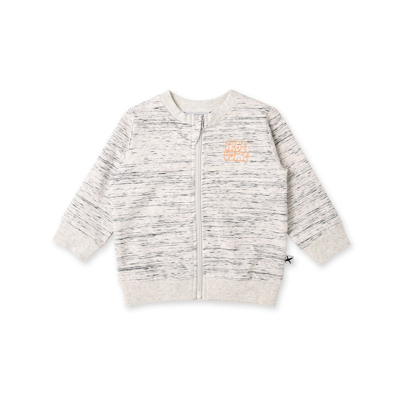 Awesome Flecked Zip Up Crew