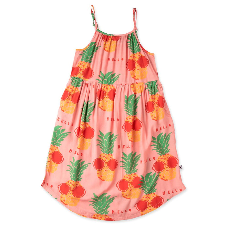 Sunny Pineapples Midi Dress