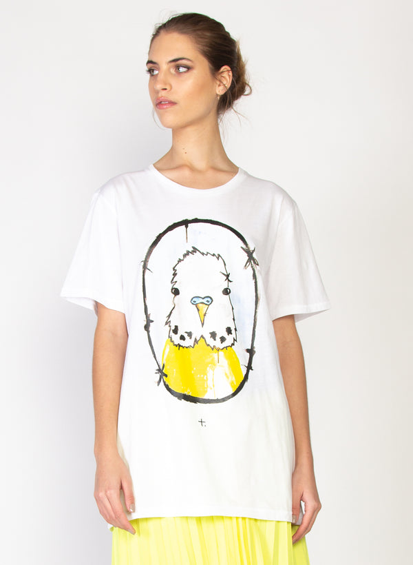 Rush Tee - Yellow Budgie