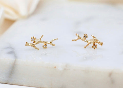 Victoria Cunningham Branch Post Earrings