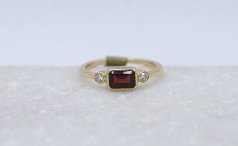 Garnet Lexie Ring