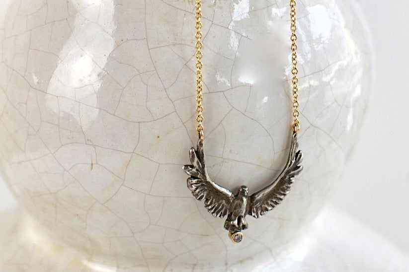 Jamie Joseph Upward Eagle Necklace