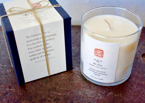 Eastern Accent Five Element Fire Candle