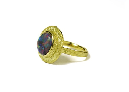 Francesca Lacagnina Black Opal Ring
