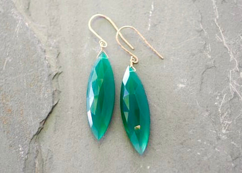 Rockstella Green Onyx Marqius Earrings