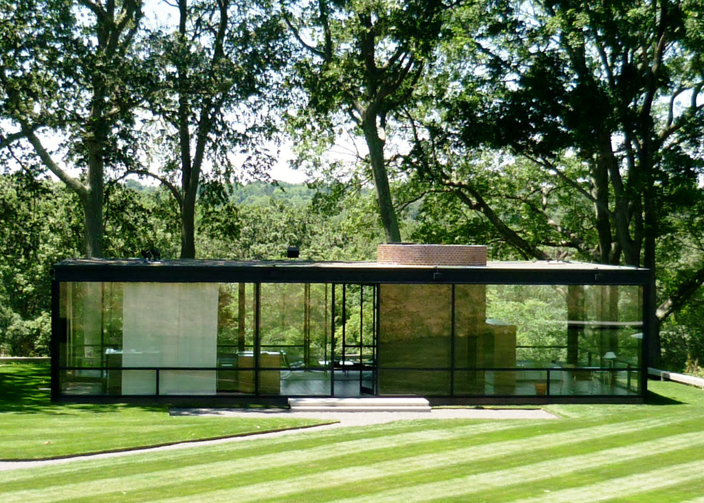 Philip Johnson's Glass House in the woods