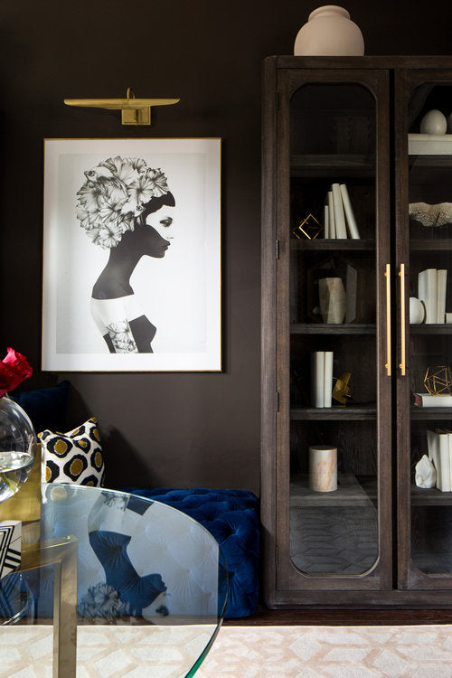 Forbes and Master designed a dark lounge for Georgian home
