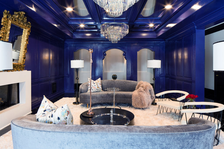 Forbes and Masters designed a blue karaoke room