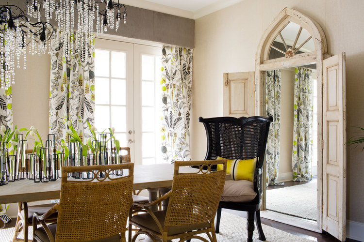 Urban tropical dining room designed by Forbes + Masters