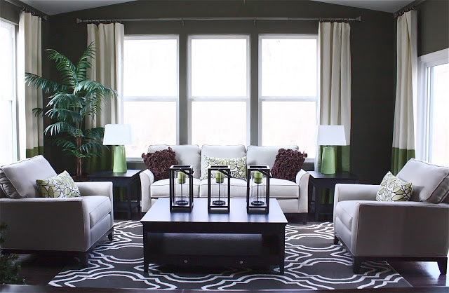 The Yellow Cape Cod's Westin-inspired living room