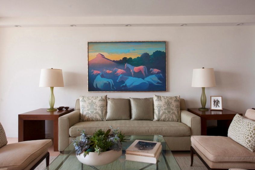 Living room designed by L.A. designer Amber Williams of Amber Nicole Interiors