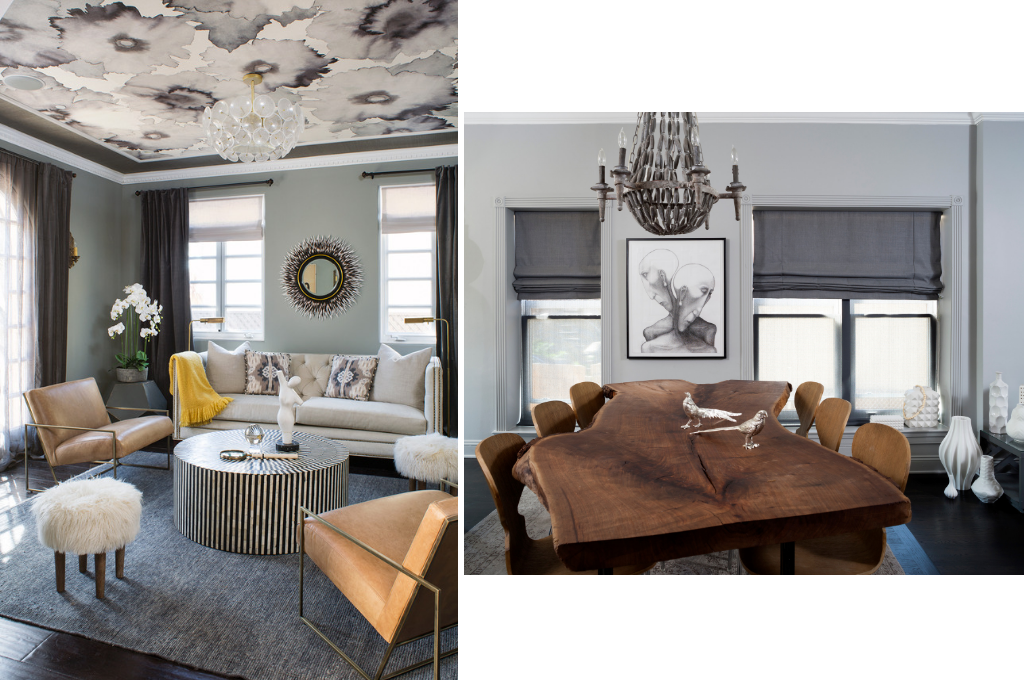 Living room and dining room Design by Breeze Giannasio   Courtesy of Meghan Bob Photography & Stacy Zarin Goldberg