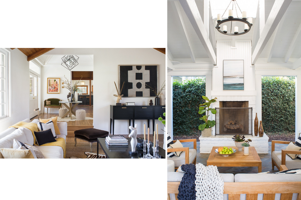 Living room and outdoor space Design by Breeze Giannasio   Courtesy of Stacy Zarin Goldberg & Meghan Bob Photography