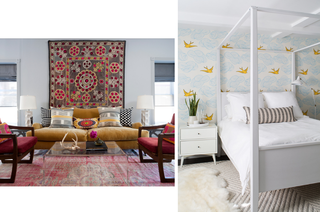 Living room and bedroom Design by Breeze Giannasio   Courtesy of Stacy Zarin Goldberg & Meghan Bob Photography