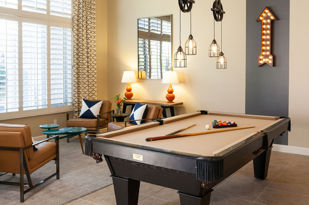 Game room designed by Mackenzie Collier Interiors