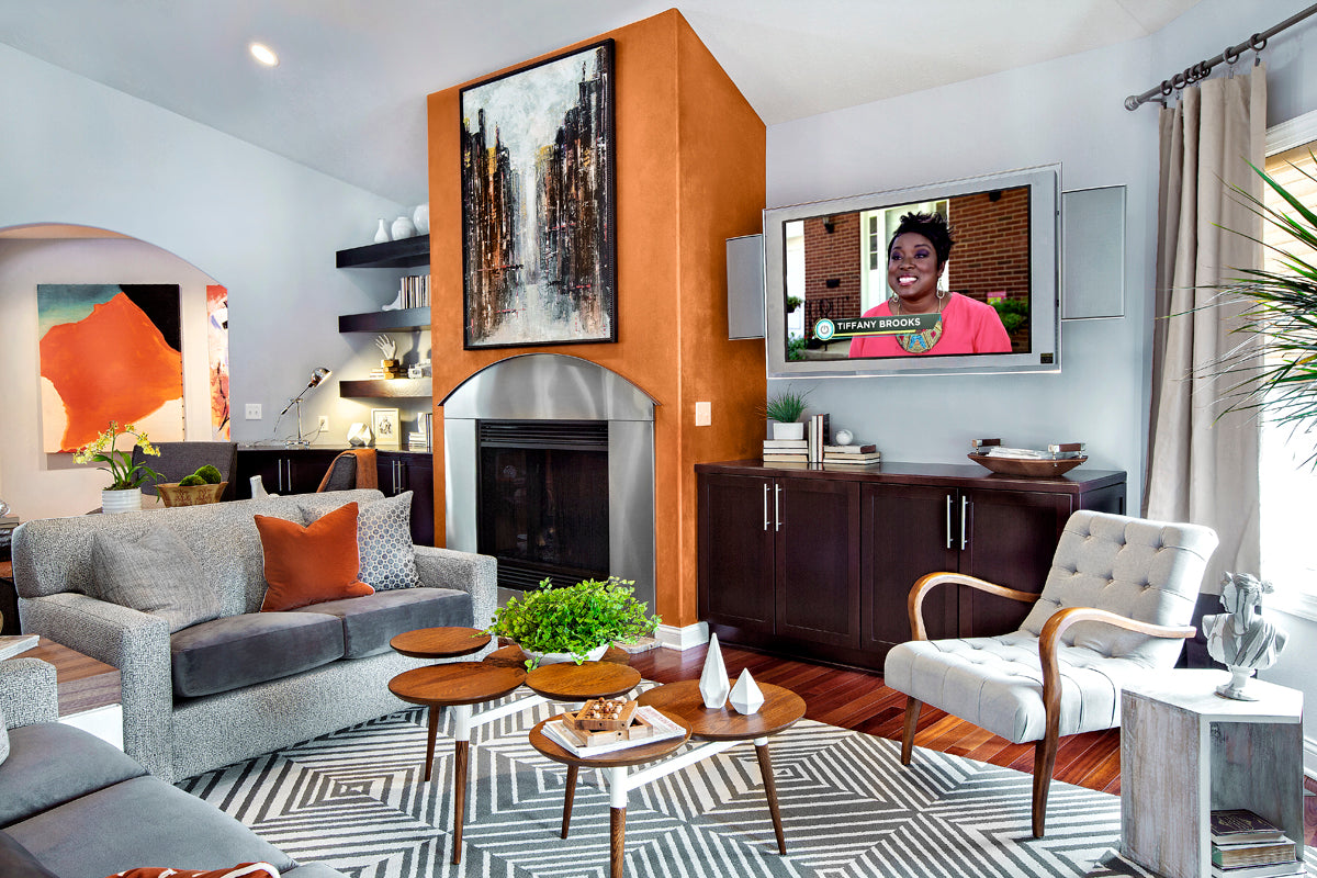 Living room designed by Tiffany Brooks