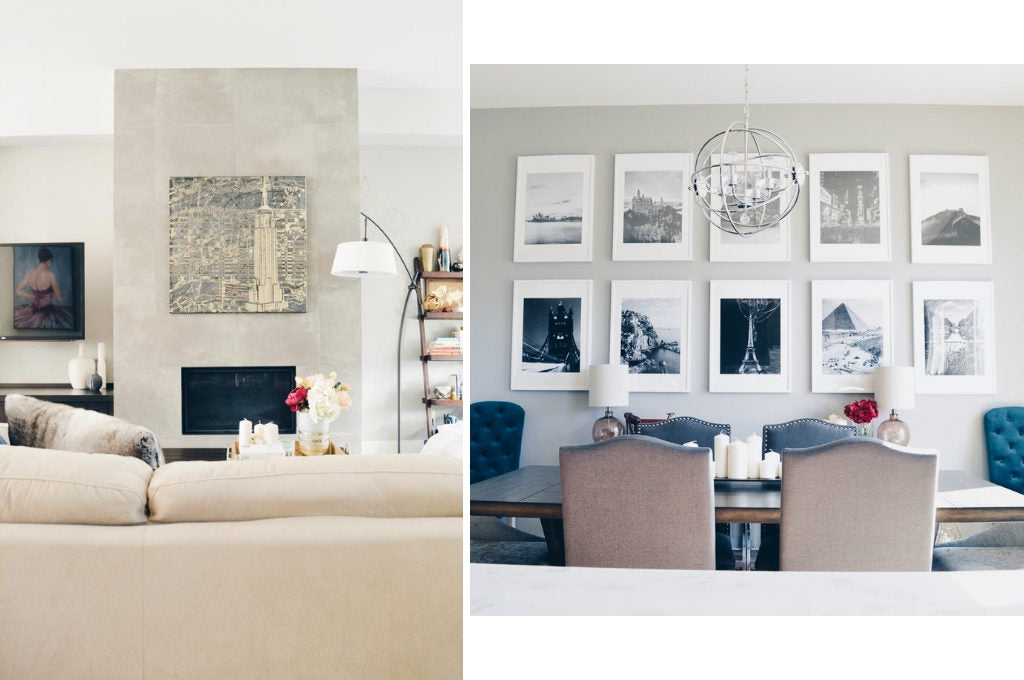 Open concept living room and dining room Design by Louis Duncan-He Designs