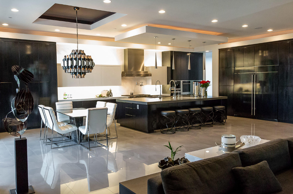 Open concept kitchen Design by Melissa Roche-Amos of Parlor 430