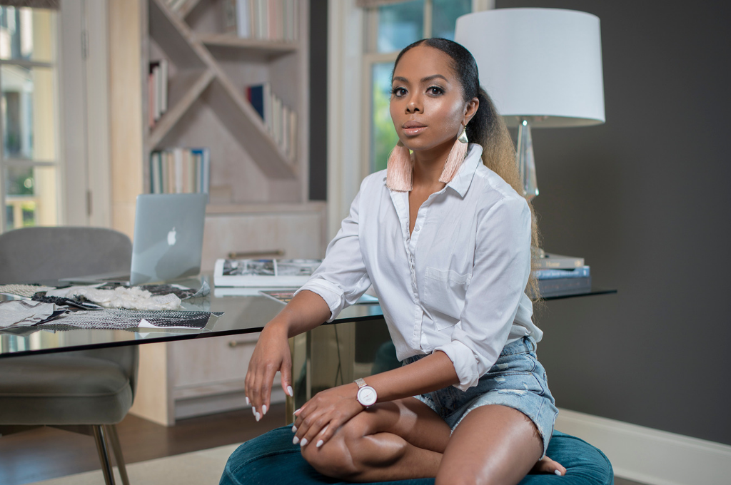 Tavia Forbes sitting in an office