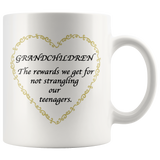 Grandchildren Are The Rewards Yellow Accent Mug